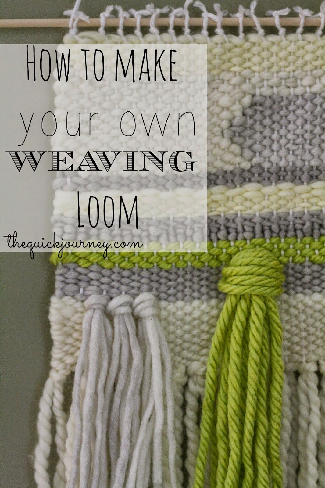 DIY Weaving Loom, shared by The Quick Journey