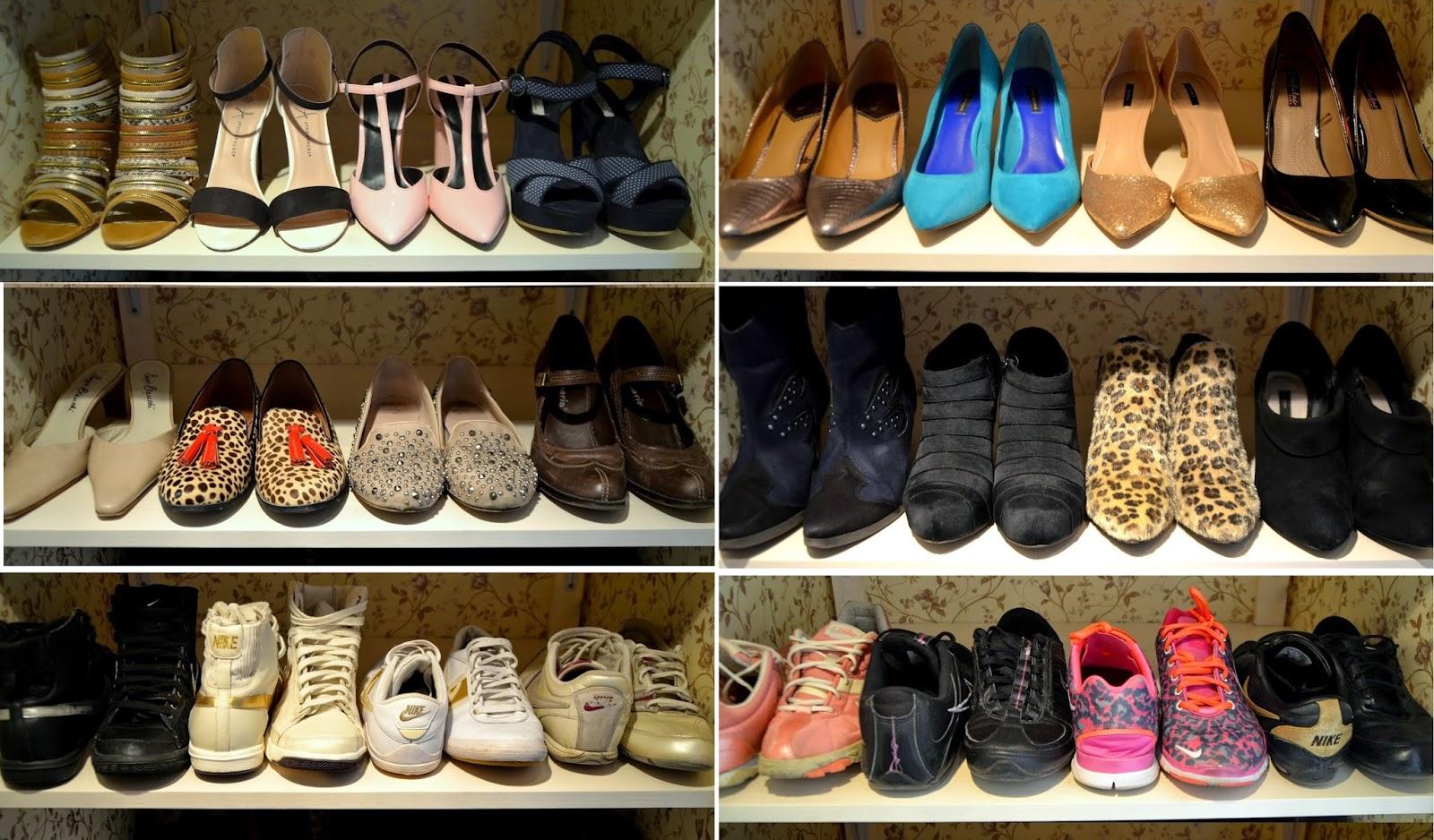 walk in shoe closet inspiration heels sneakers boots