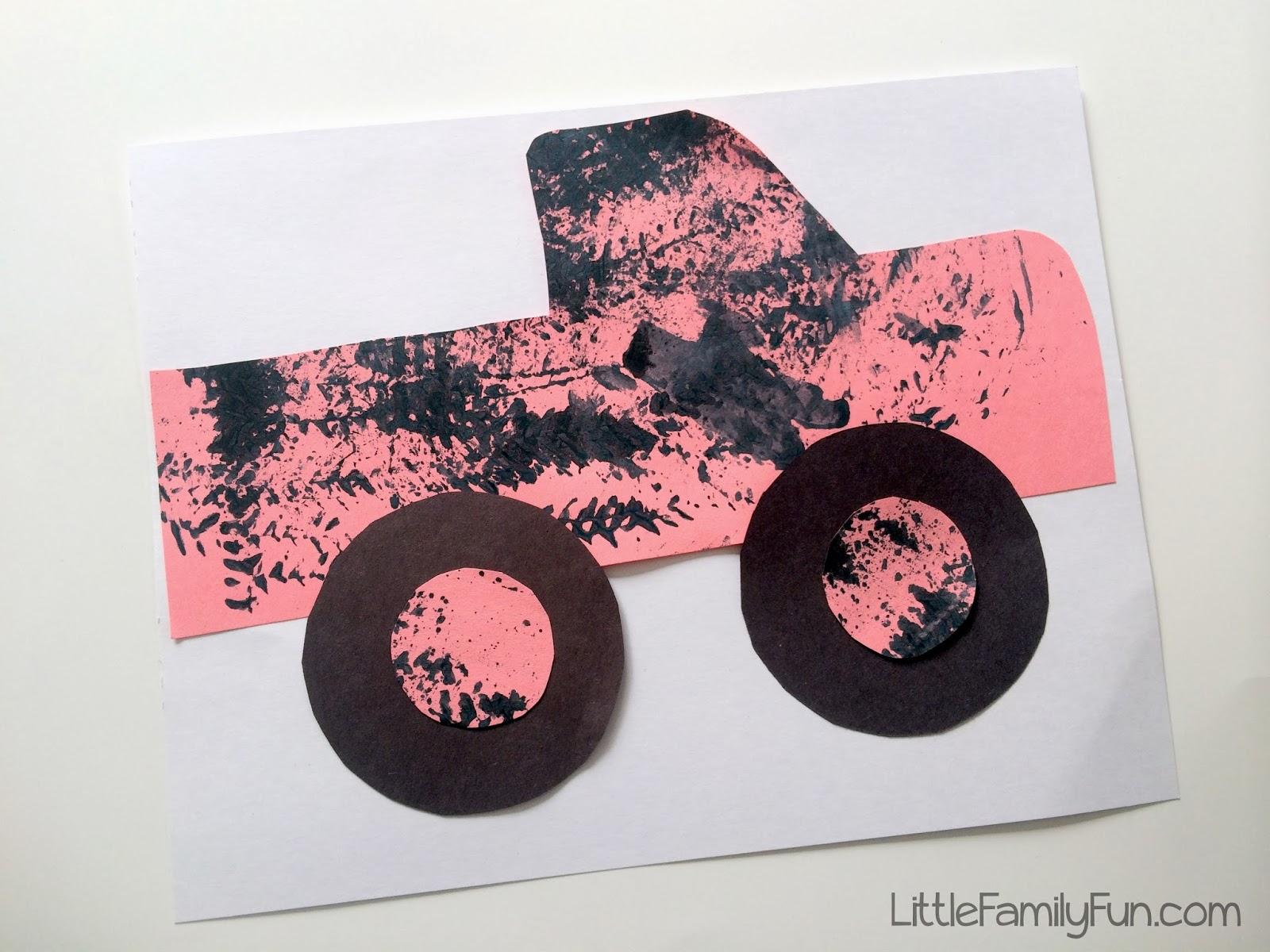 little family fun monster truck craft