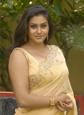 Actress Namitha Stills in Saree glamour images