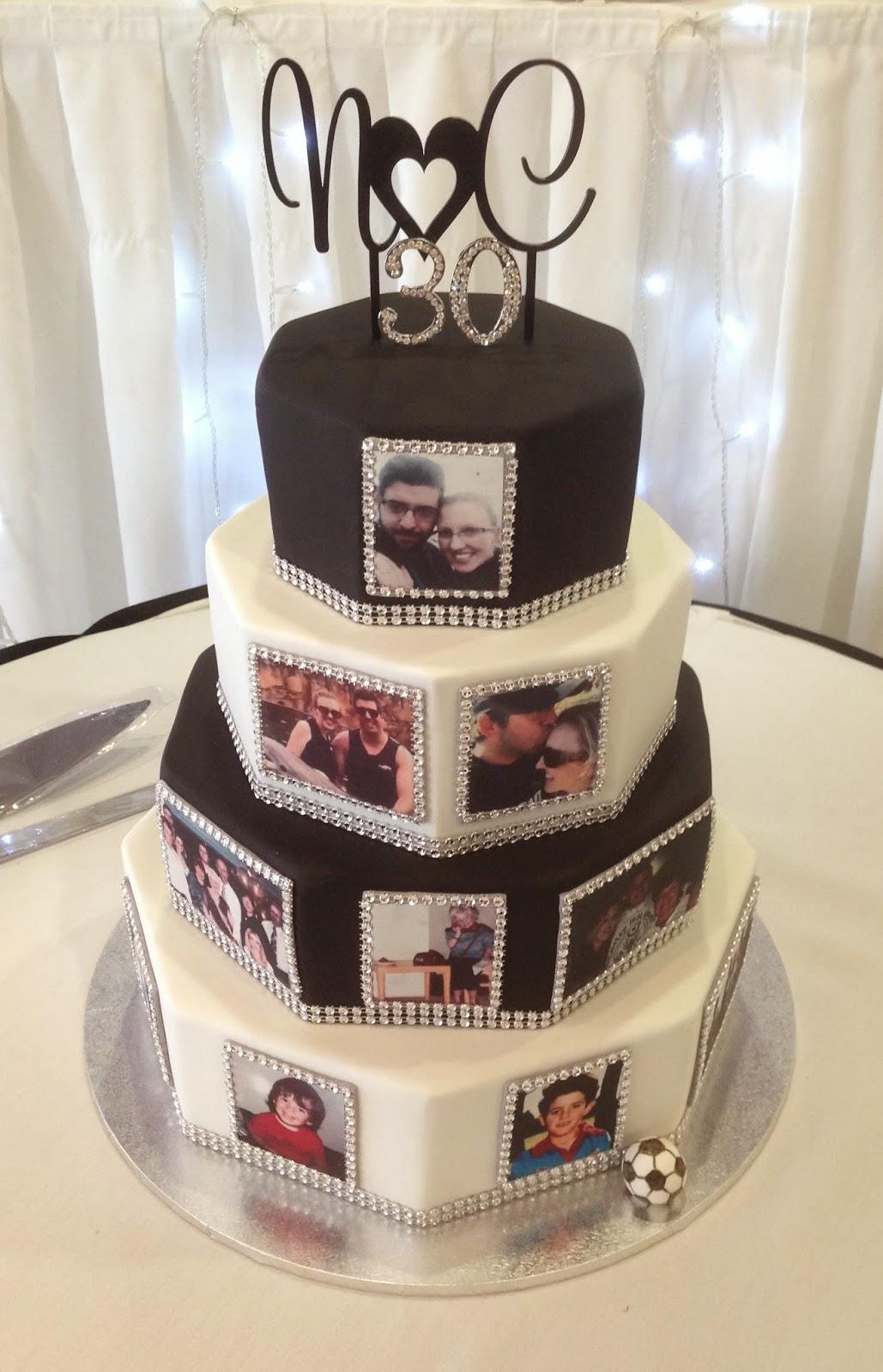 Nadas Cakes Black And White Bling Weddingbirthday Cake By