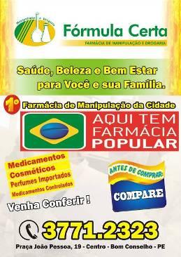 Farmácia Fórmula Certa, agora também é Farmácia Popular.
