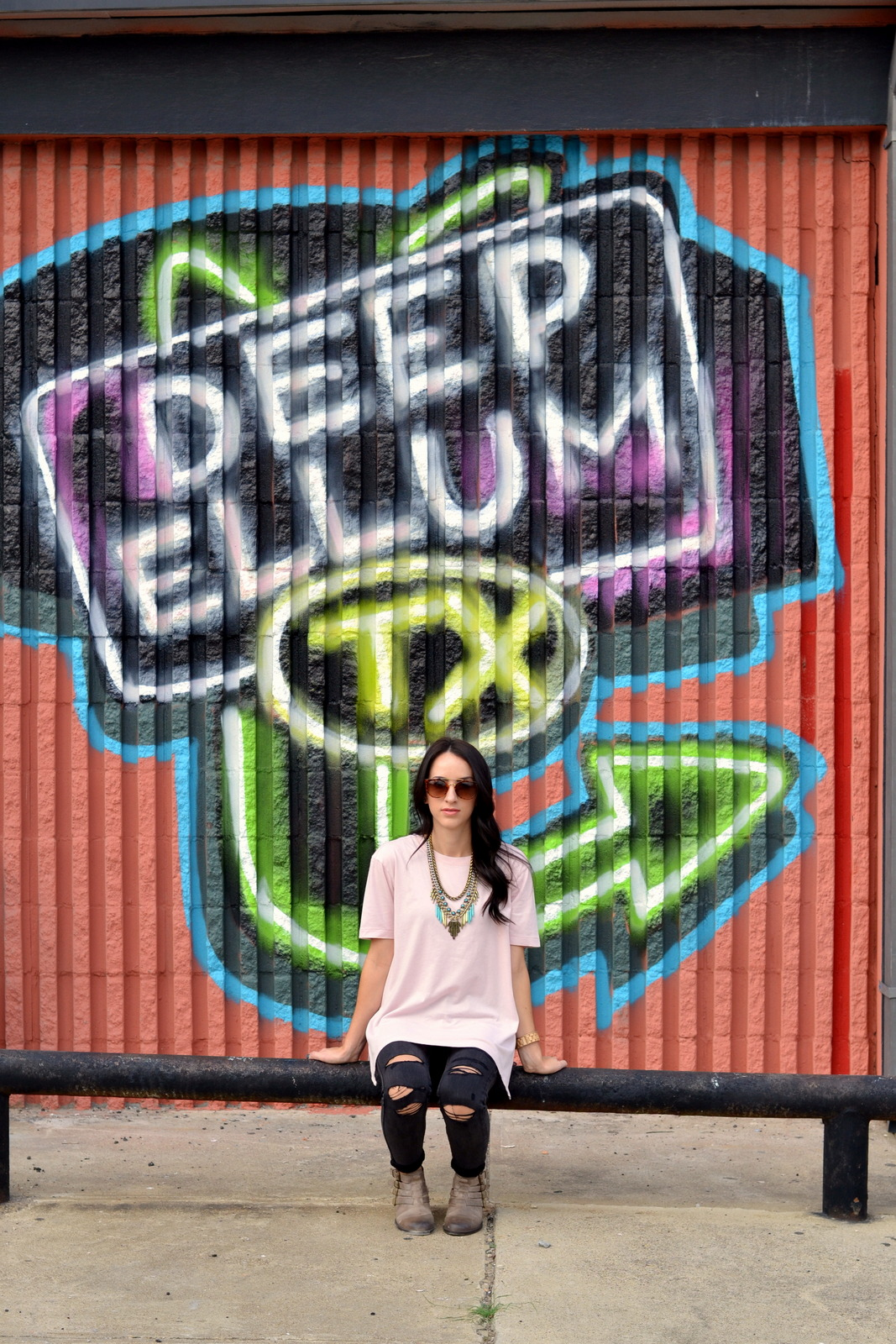 Boyfriend Tee, Old Navy, Loose Tee, Deep Ellum