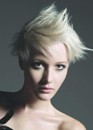 funky hair color ideas for short hair. Short Spiky Haircuts, look