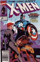 Wolverine, Captain America and Black Widow heroic pose