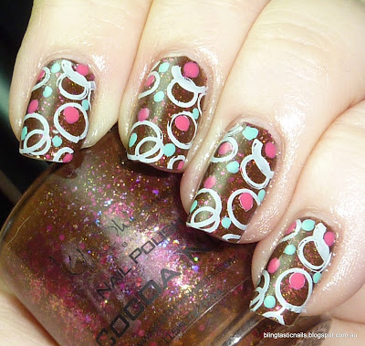KBShimmer Cocoa Nut with stamping and polka dots