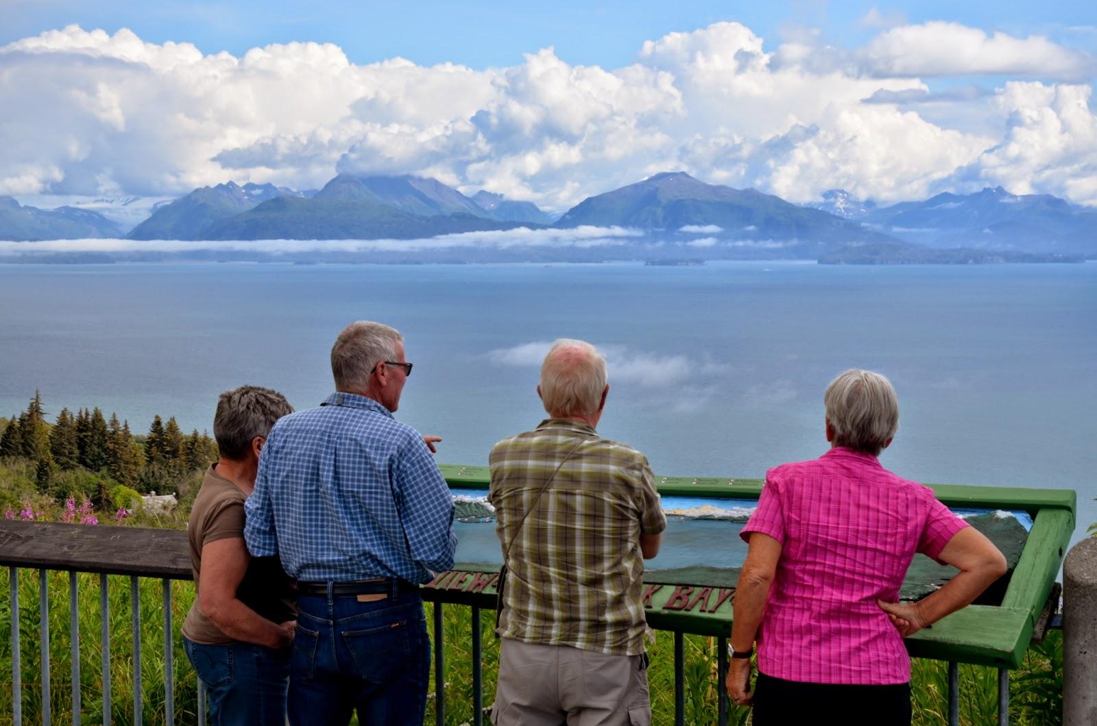 Close to Homer, overlooking Cook Inlet toward the Kenai Mountain