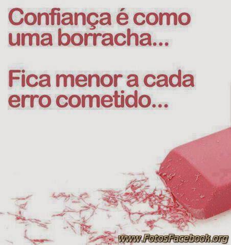 Imagem: Confiança é como borracha