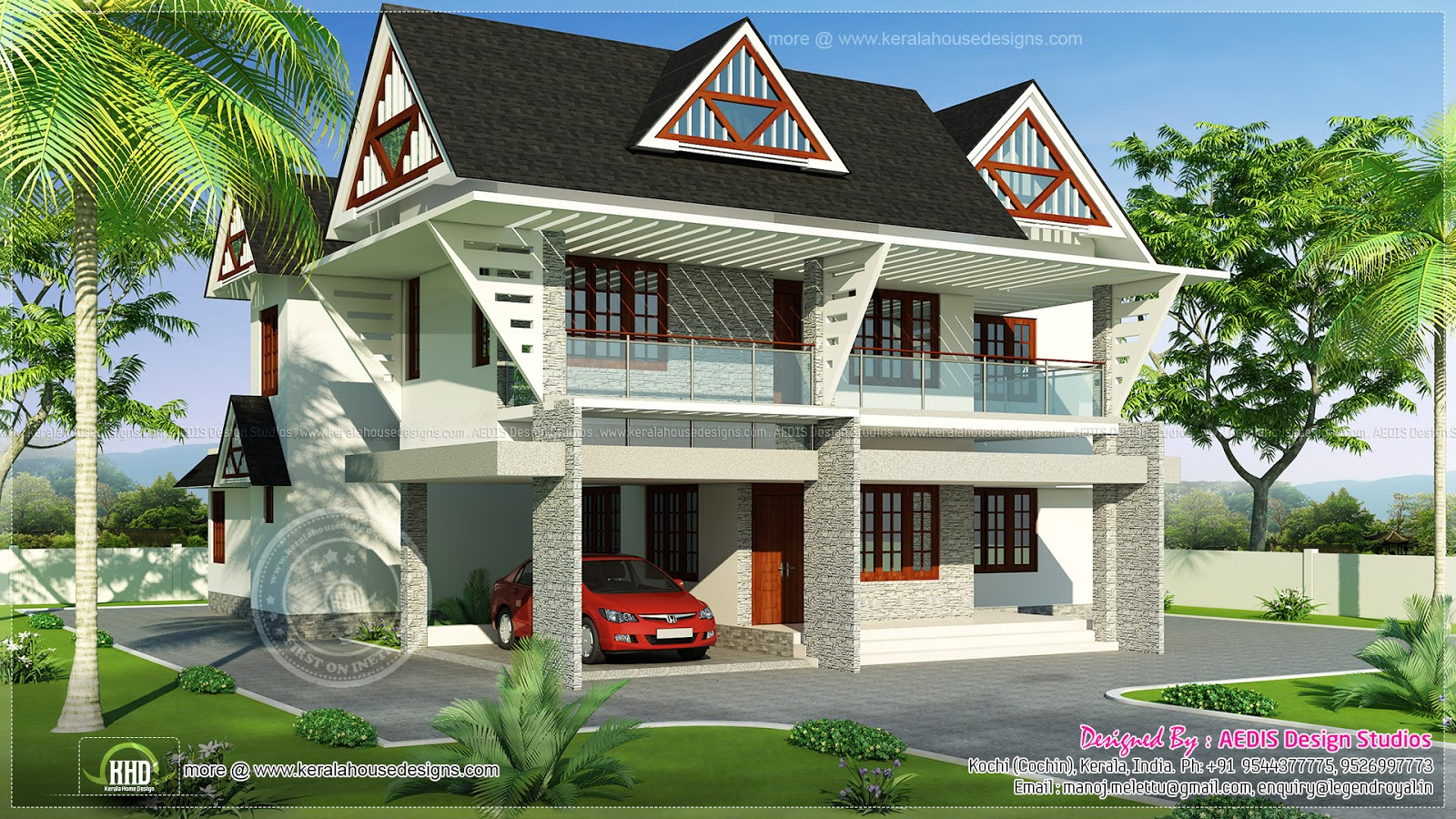 July 2013 kerala home design and floor plans Modern square house