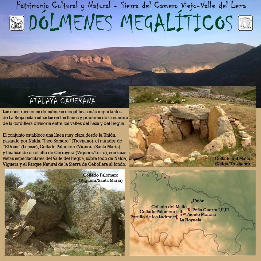 Sierra del Camero Viejo - Valle del Leza. Patrimonio Cultural y Natural. Dólmenes Megalíticos.