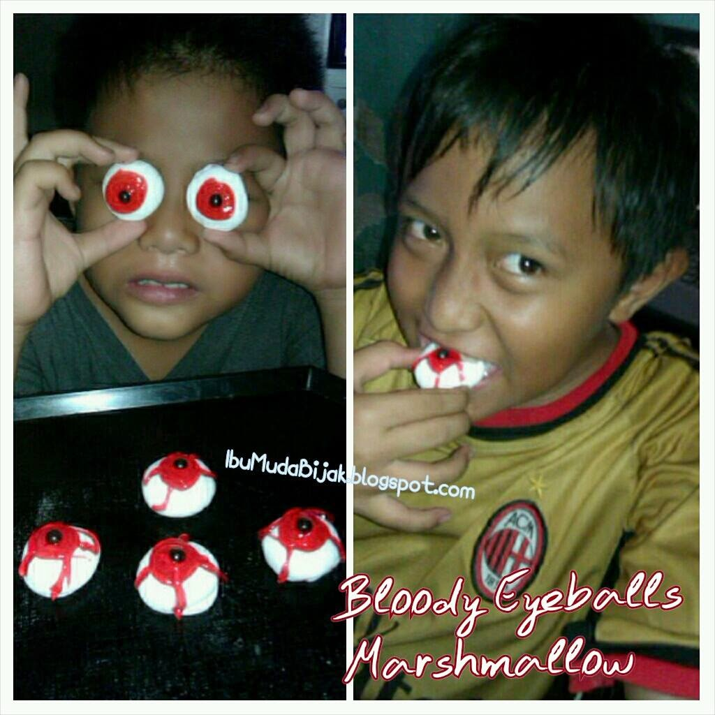 RESEP: Bloody Eyeballs Marshmallow (Halloween Treats)