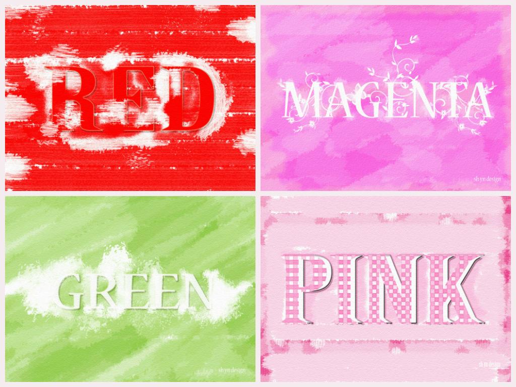 Sh Yn Design: Stripe Wallpaper - Black Pink Stripe