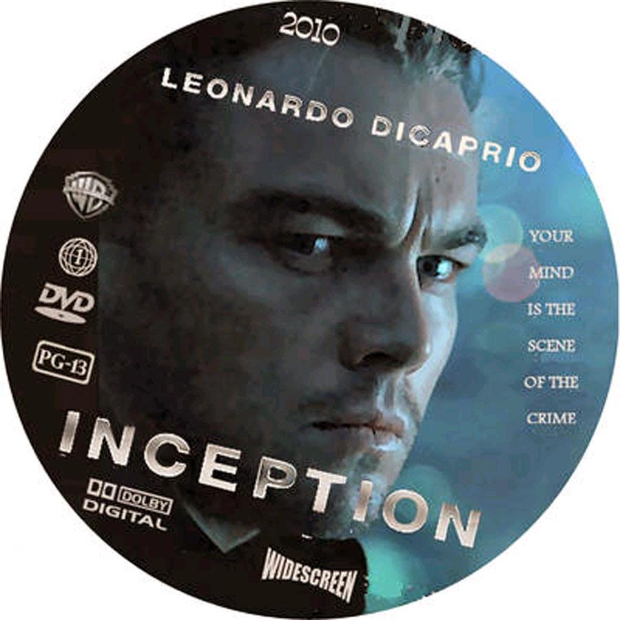 Inception Movie Dvd Label Art