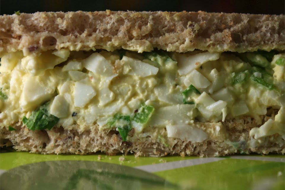 half but i like an egg salad sandwich the best