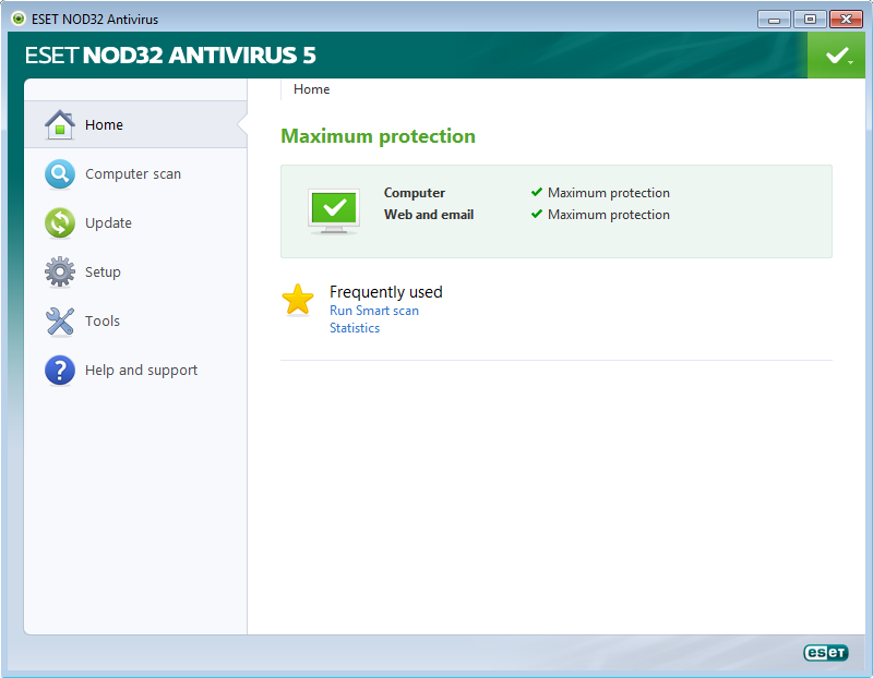 ESET NOD32 Antivirus for 32 and 64-bit operating Systems License till