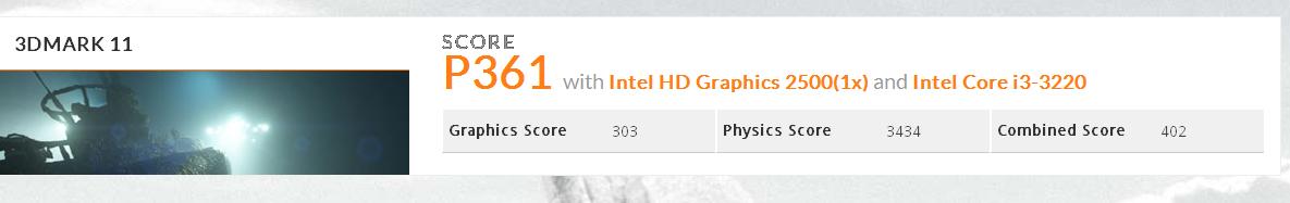 тест 3D марк моноблока MicroXperts M400-01