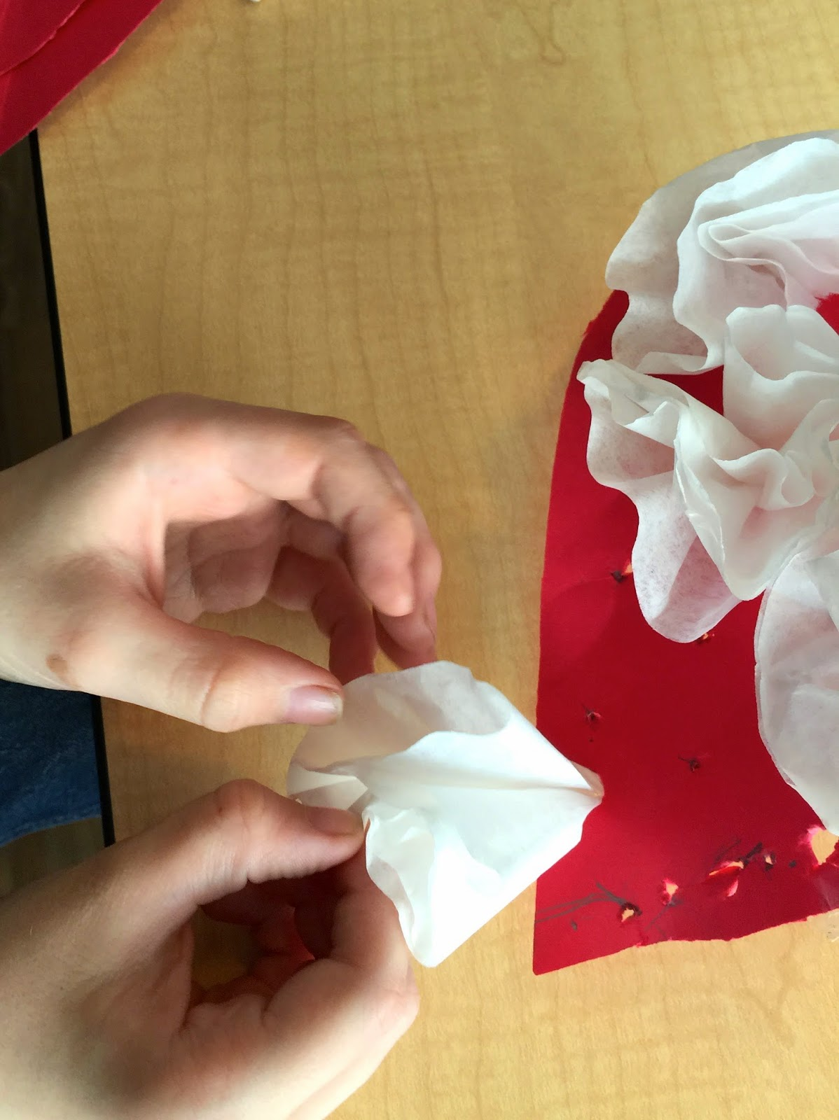 Coffee Filter Heart - Fine Motor Heart