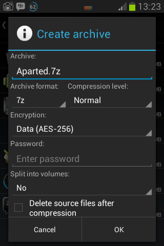 Cara mengkompres file dengan ZArchiver 1