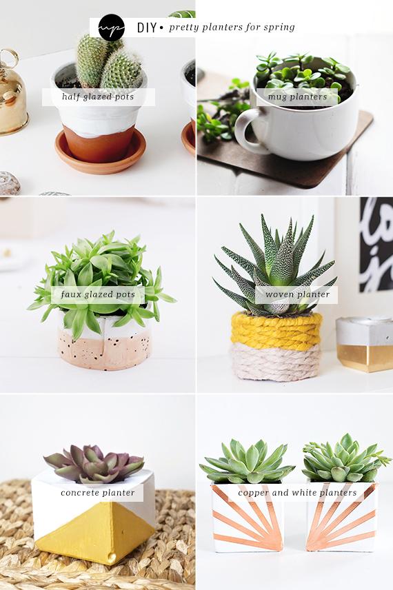 DIY: Pretty planters for spring