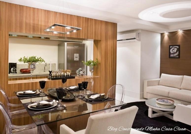 Construindo minha casa clean 25 cozinhas integradas com for Modelos de apartamentos pequenos