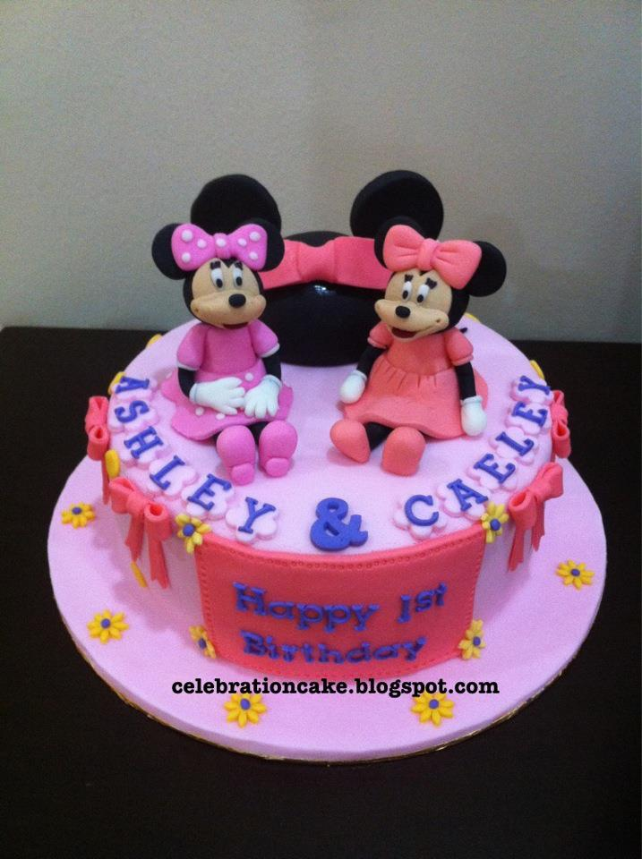 Celebration Cake Minnie Mouse Theme
