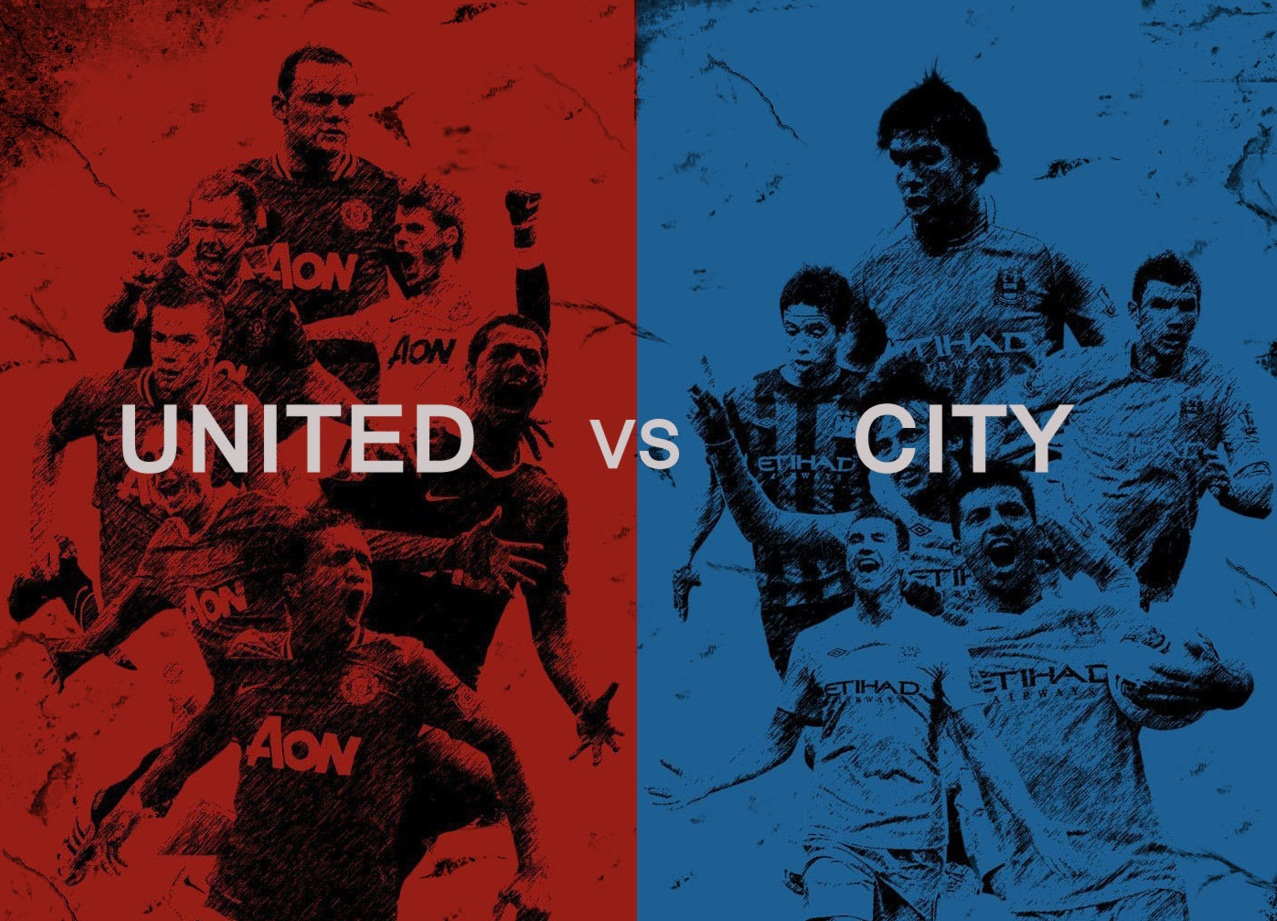 Manchester Derby between Manchester United and Manchester City