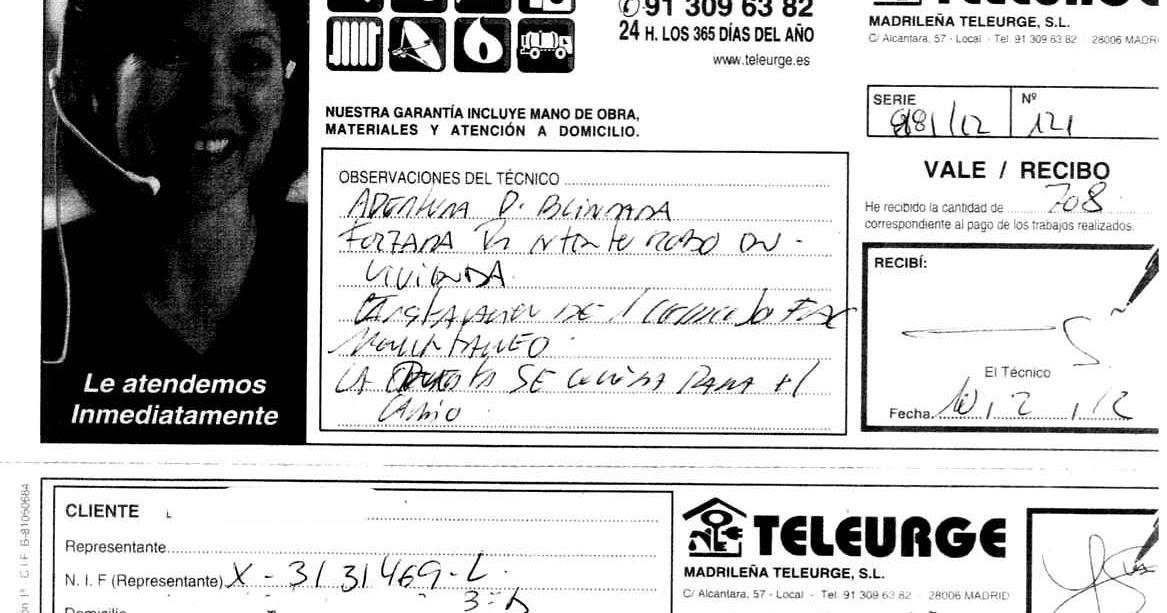 Caminando por madrid la factura del cerrajero de urgencia for Cerrajeros de urgencias madrid