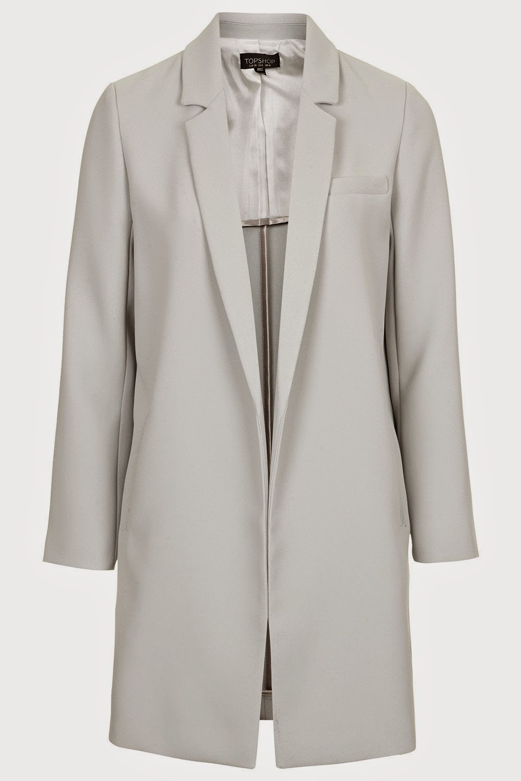 topshop grey long blazer,