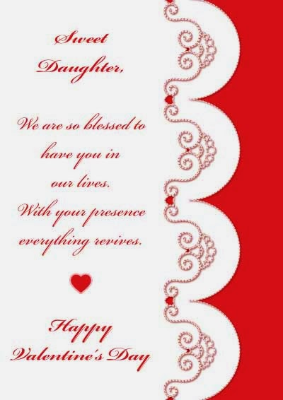 Valentines Day Quotes For Daughter And Son In Law : Printable Birthday  Cards Valentines Day