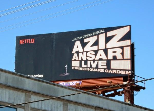Aziz ansari live netflix billboard Madison square garden customer service