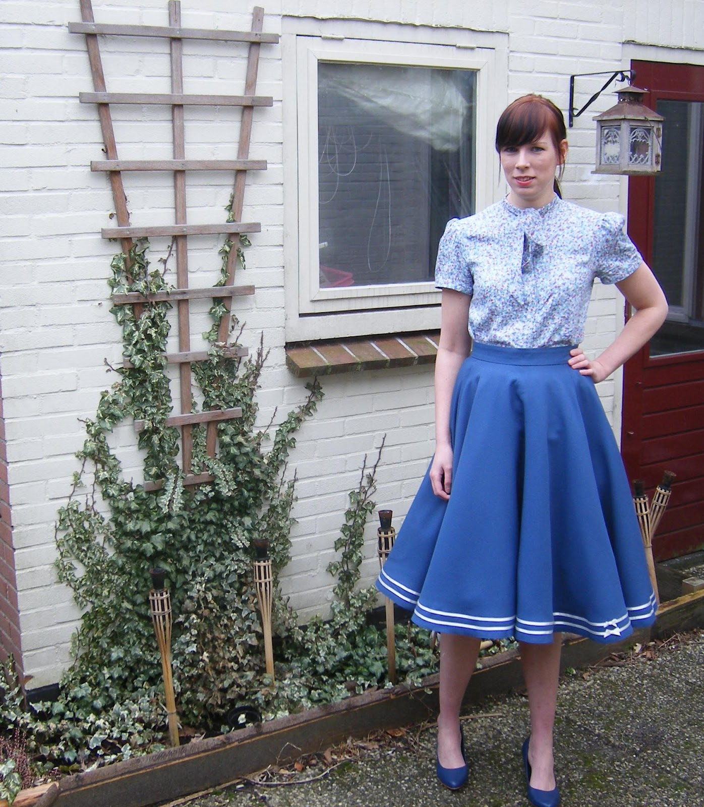 Bow Blouse and circle skirt made by Anthea