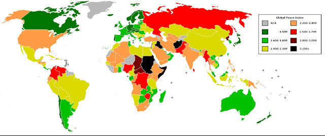 World Peace Map 2015