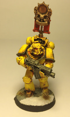 Pre-Heresy Imperial Fists Mark IV Vexilla