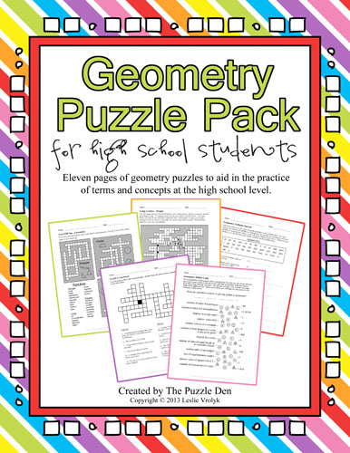 The Puzzle Den Geometry Puzzles For High School Students