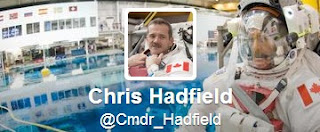 Commander Hadfield's Twitter account