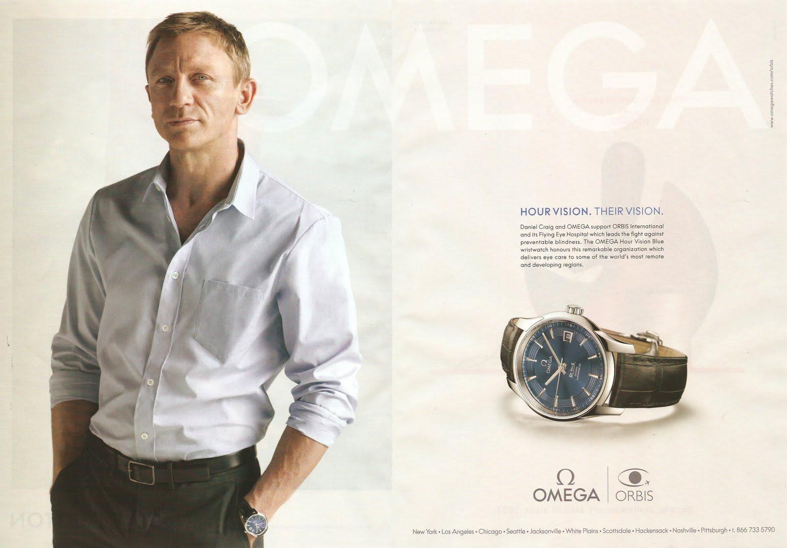 omega daniel craig james bond watch i luv ads