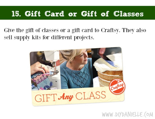 Holiday DIY Gift Guide: Craftsy Gift Card