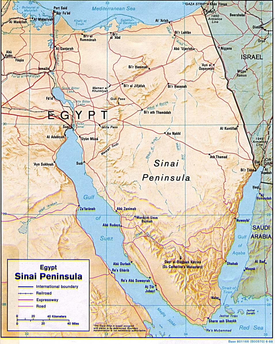 egypt the desert of sinai and the red sea