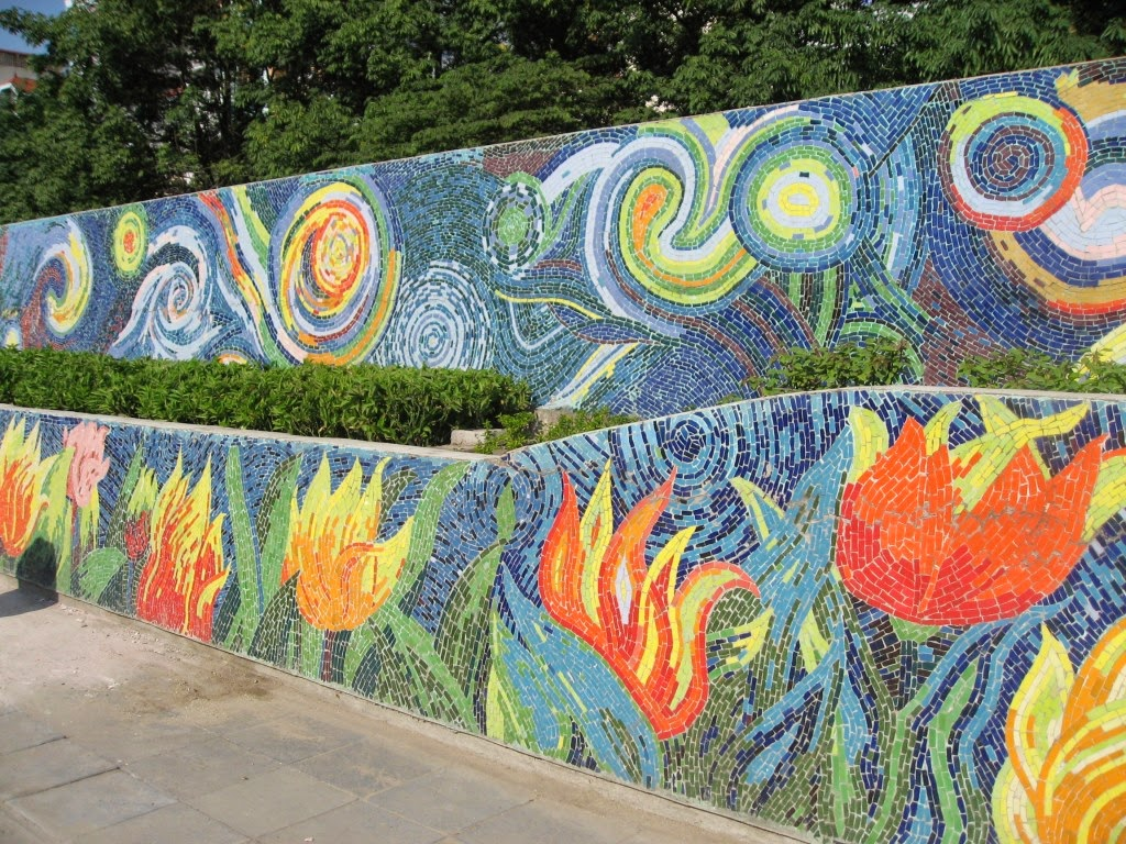 Tours from hanoi hanoi city tours hanoi city tour full day for Ceramic mural designs