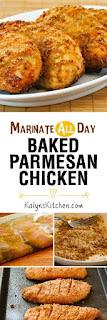 Marinate-All-Day Baked Parmesan Chicken [found on KalynsKitchen.com]
