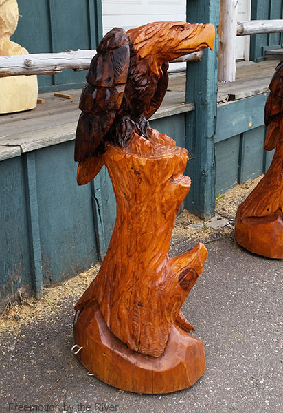 wood carved eagle we bought