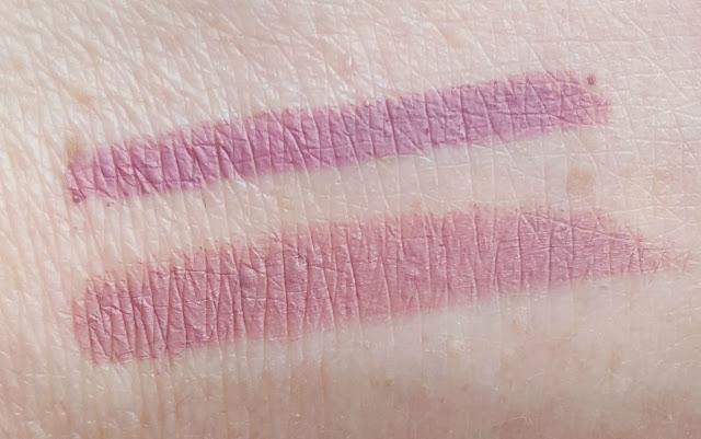 NARS Velvet Lip Liner in El Agua and Elf Studio Matte Lip Colour in Tea Rose swatch