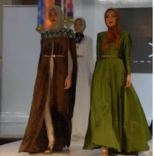 contoh  hijab dress modern 2016