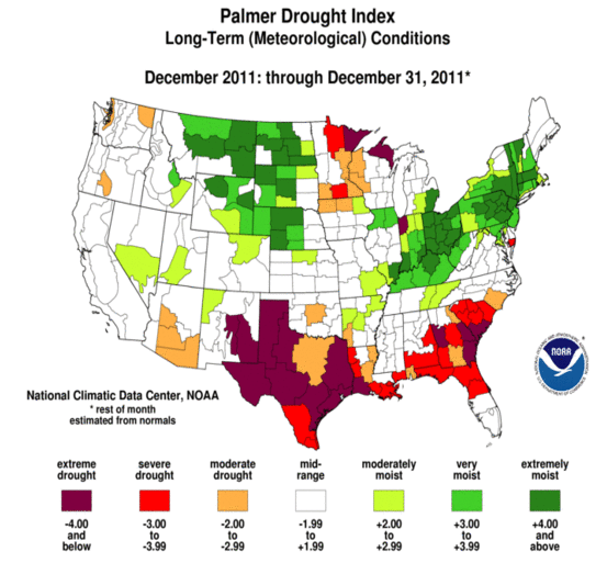 Early Warning: Current US Drought Map