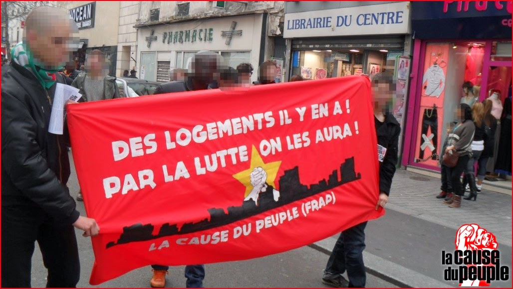 maoistroad paris sur la manifestation pour le logement saint denis du samedi 15 mars la. Black Bedroom Furniture Sets. Home Design Ideas
