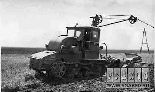 Электротрактор ХТЗ-12 (гусеничный трактор)