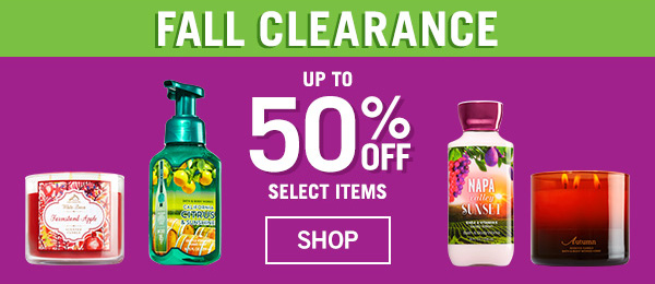 Life Inside The Page Bath Body Works Today 39 S Email October 30 2015 50 Off Fall Sale