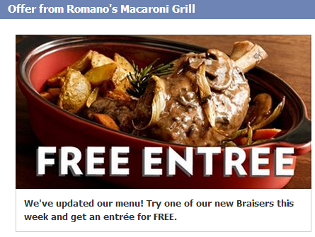 buy one braiser get one entree free printable coupon macaroni grill