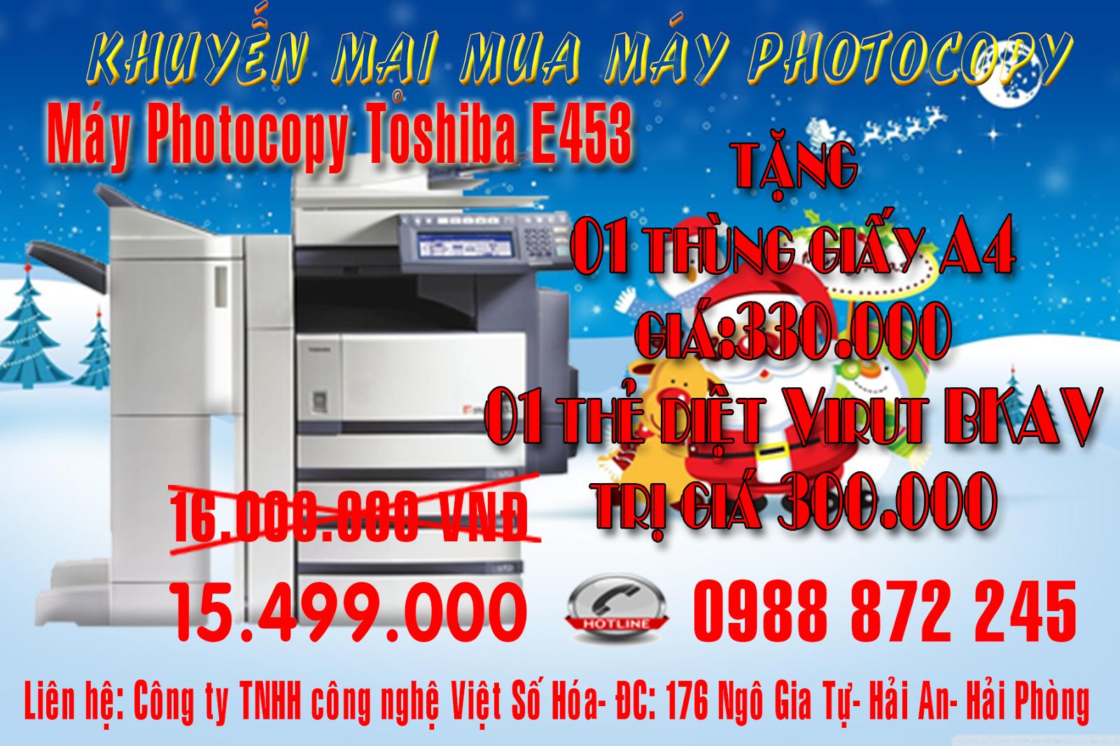 Khuyến mại mua máy photocopy tại Hải Phòng
