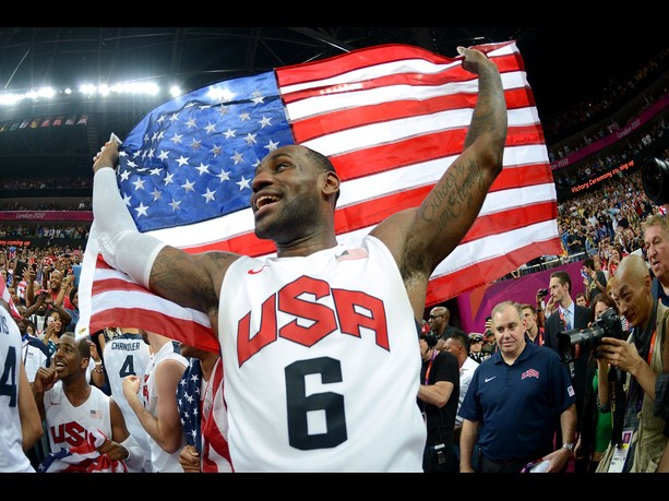 LeBron Gold Medal Olympics
